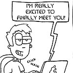 Funny Online Dating First Date Cartoon