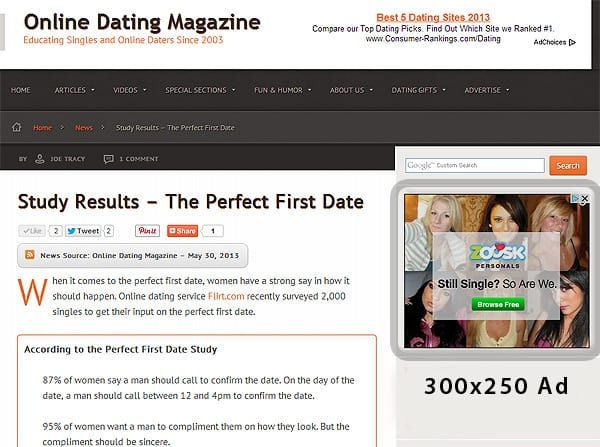 300x250 online dating ad space