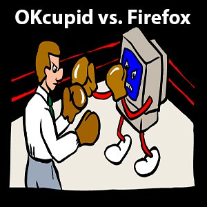 OKcupid is taking on Firefox due to the CEO's past stance on gay rights